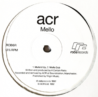 "A Certain Ratio (ACR) ‎- Mello/27 Forever (Remixes) (12"") (EX/EX)"